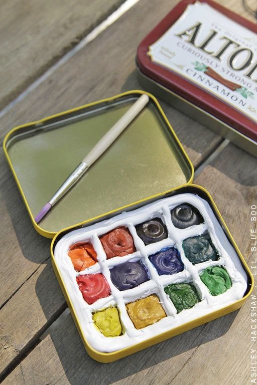 Diy Portable Watercolor Palette Watercolor Kit Palette Art Diy