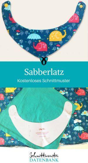 sabberlatz halstuch baby kind nähen kostenloses Schnittmuster ...