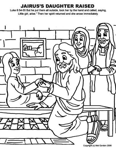 Creative Streams Bible Coloring Pages For Kids Bible Coloring Pages Bible Coloring Jairus Daughter