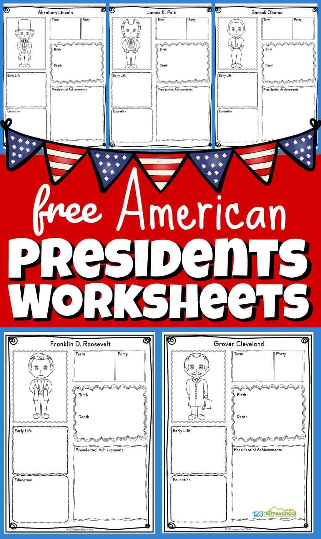 Photo of FREE Presidents Worksheets