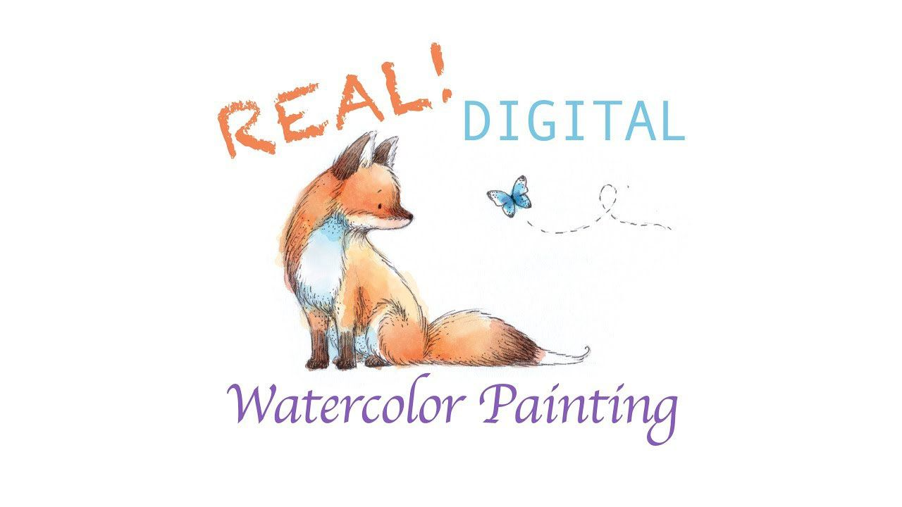 Real Digital Watercolour Painting In Photoshop Digital Watercolor Watercolour Tutorials Watercolor Illustration