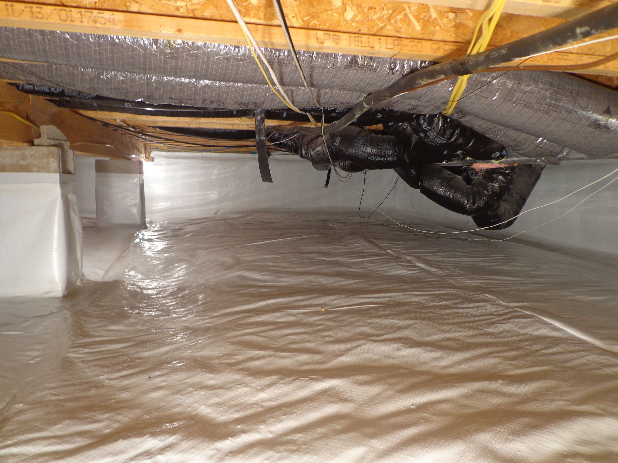 After sealing a crawl space in Bloomington, Indiana with