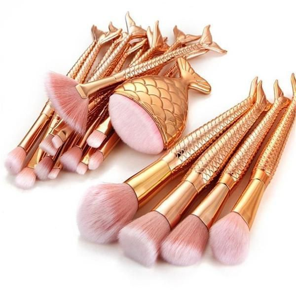 Photo of 16PCS Golden Mermaid Makeup Brushes Set – #16pcs #brushes #diyluxuryhome #golden #makeupbrushes –