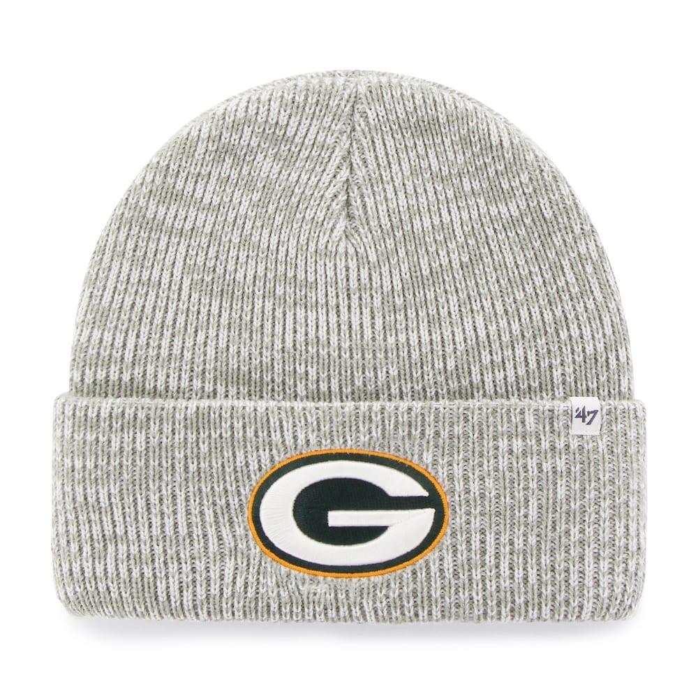 6ab65f01103 Adult  47 Brand Green Bay Packers Brain Freeze Cuffed Knit Cap ...