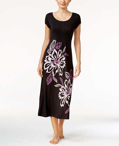 54.50$  Watch here - http://vigtn.justgood.pw/vig/item.php?t=j0y09ez33384 - Floral-Print Knit Nightgown, Only at Macy's 54.50$