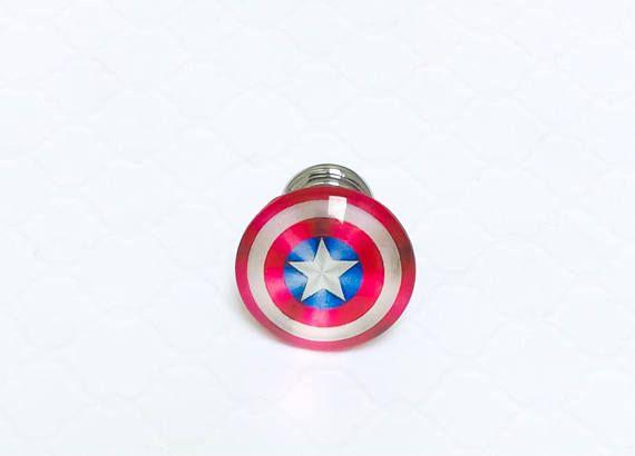 Marvel Spiderman Drawer Knob Superhero Cabinet Knob ~ Superhero Decor Spiderman Knob in Pewter