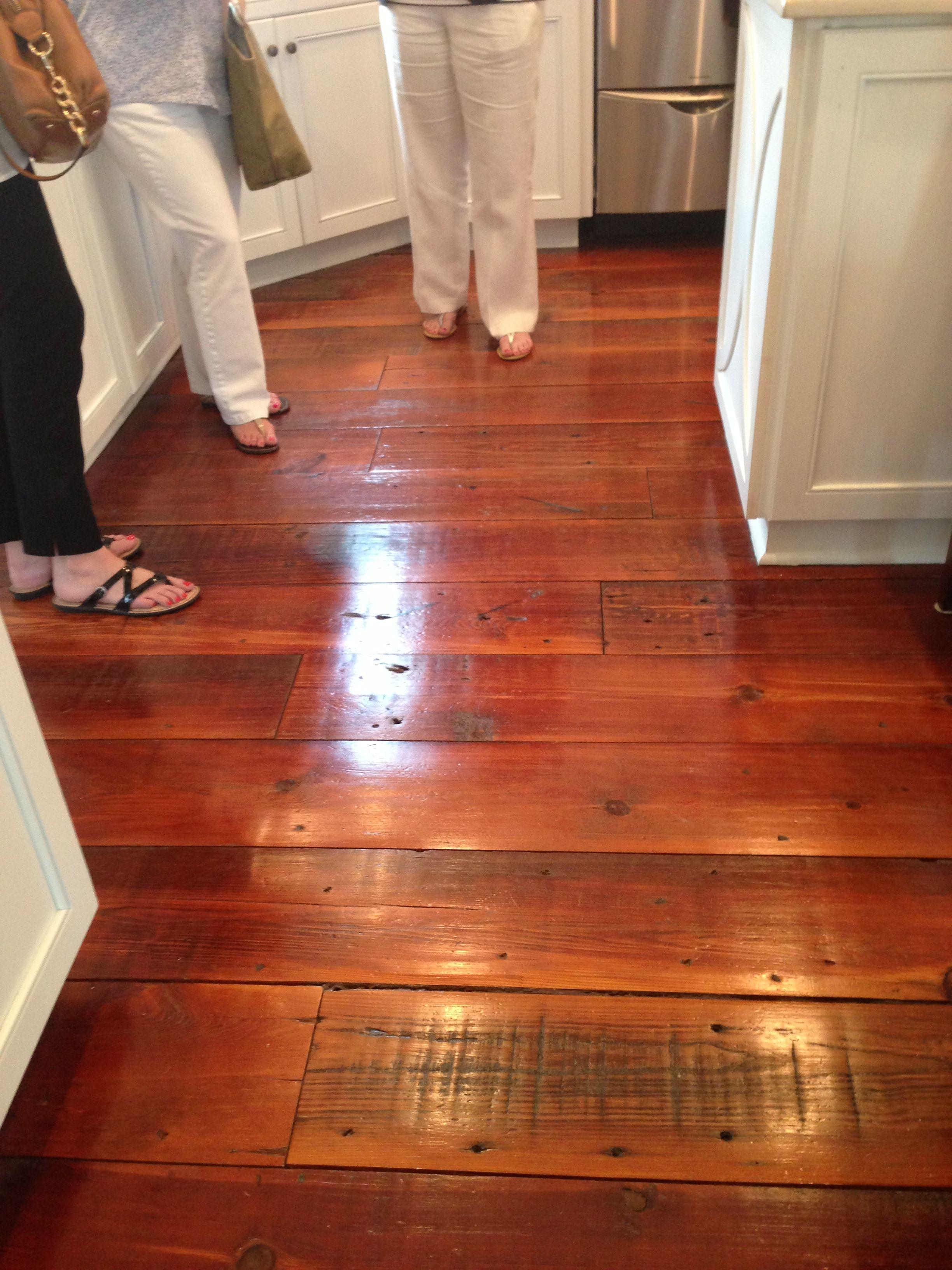Antique Heart Pine Floors In 2019 Sunflower Kitchen