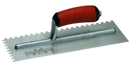 Marshalltown The Premier Line 776sd 11 Inch By 4 1 2 Inch Notched Trowel With Curved Durasoft Handle Visit The Image Link Marshalltown Concrete Tools Trowel