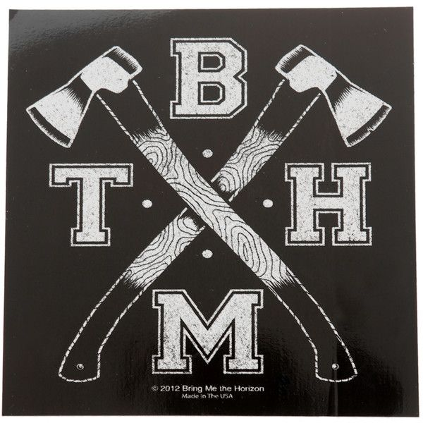 Bring me the horizon axes sticker hot topic 21 ❤ liked on polyvore featuring bands pictures bring me the horizon and filler
