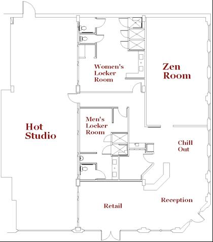 Studio Floor Plan Except Studio Room Should Be A Variable Temperature Room Studio Floor Plans Yoga Studio Design Dance Studio Design
