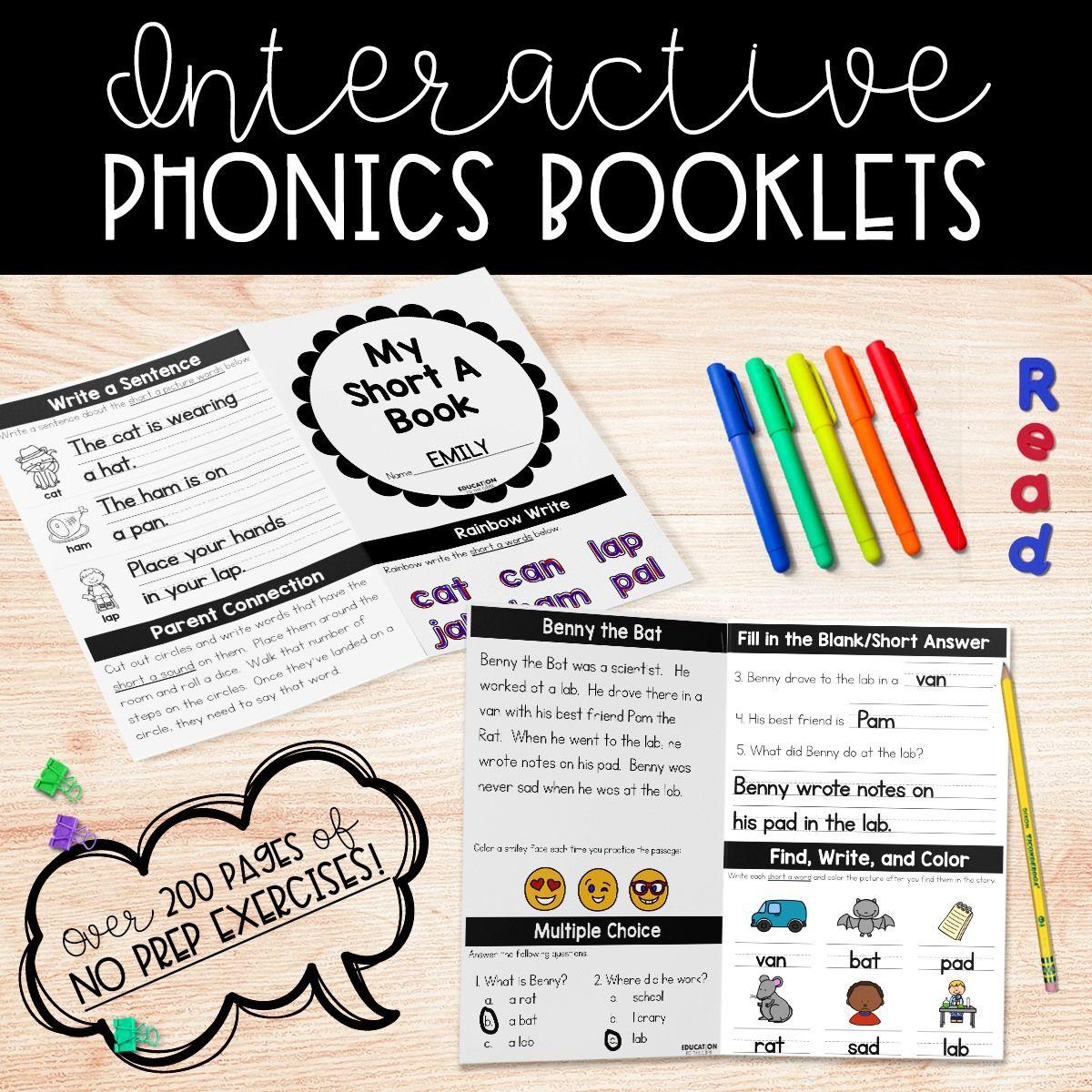 No Prep Phonics Booklets