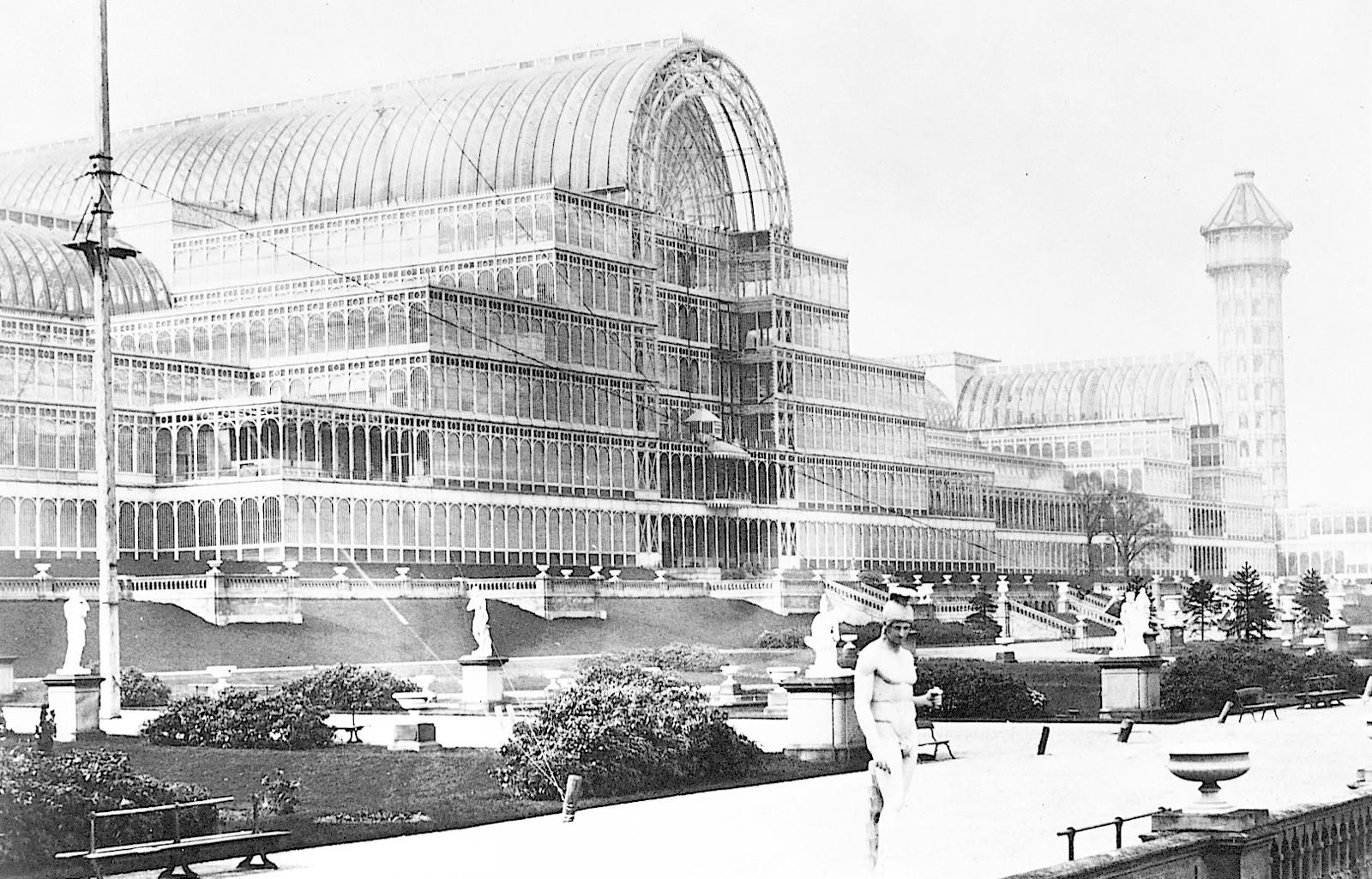 Crystal Palace: cast-iron and plate-glass building in London to ...