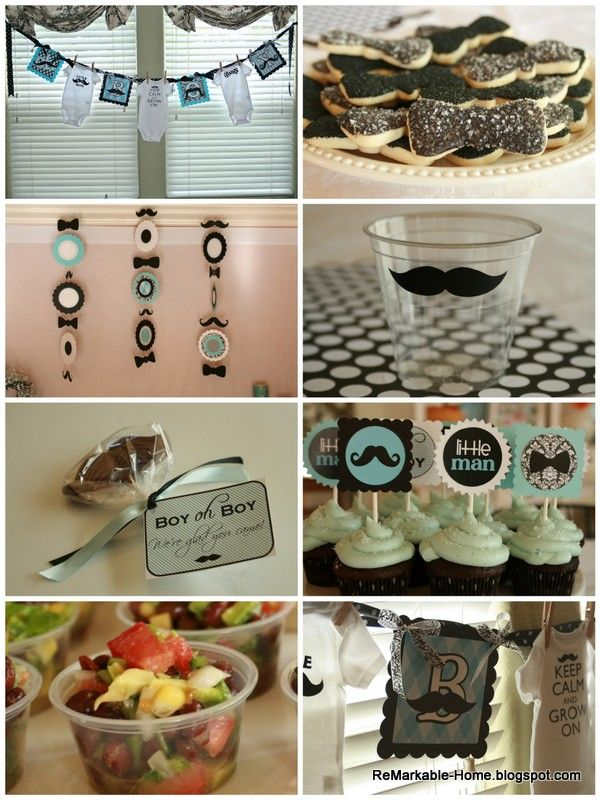 Little Man Mustache Shower @ ReMarkable-Home.blogspot.com