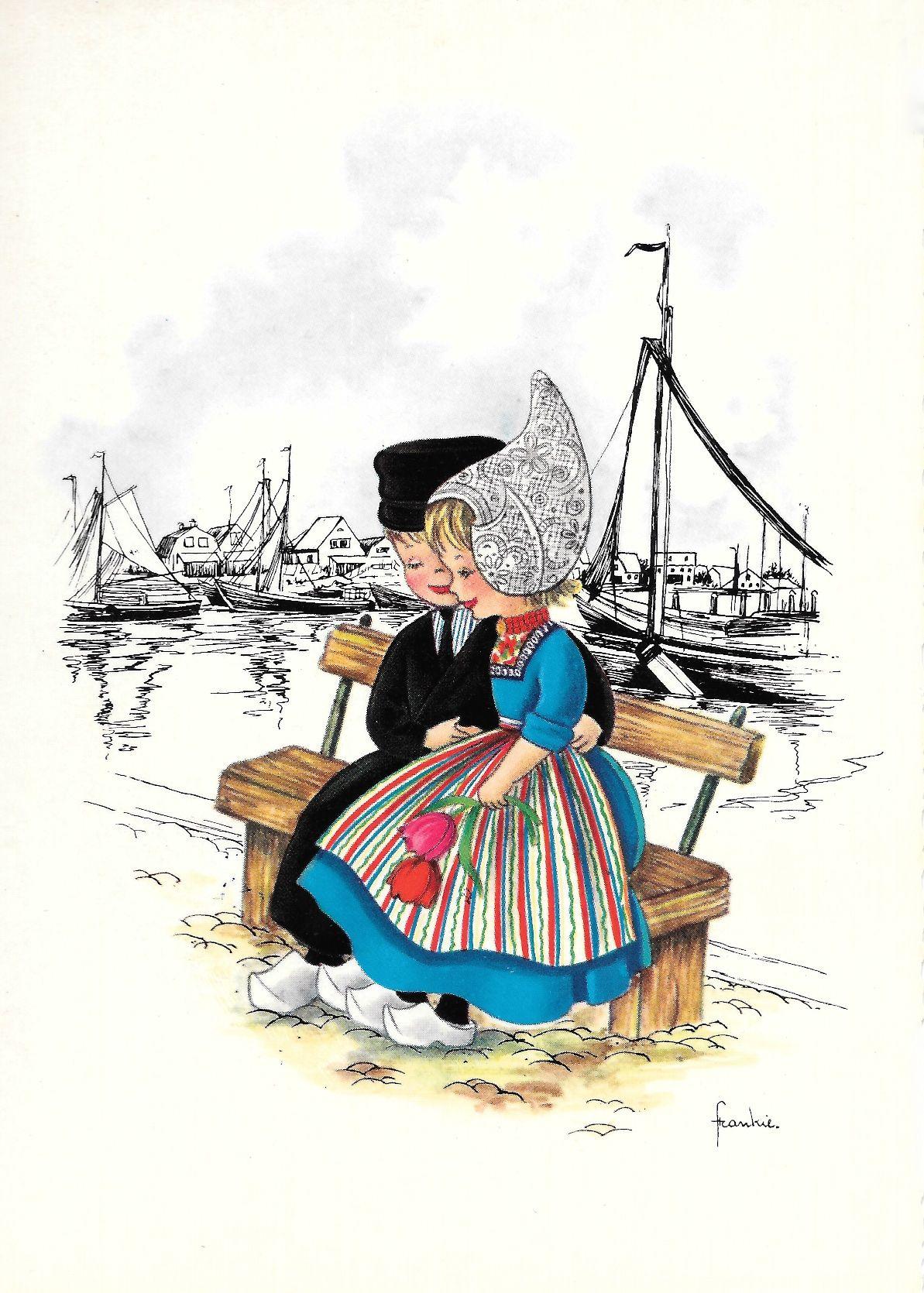 Старинные голландские открытки, открытки девочке годика