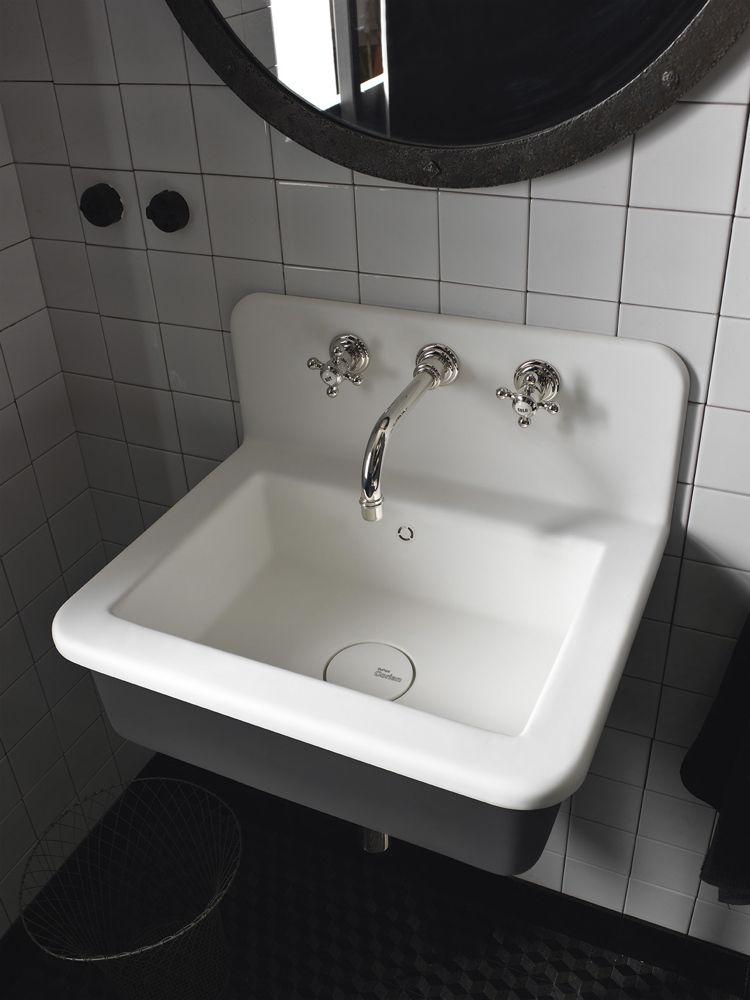 Design Handwaschbecken Badezimmer Industrial Weiss Anthrazit Grau Retro  Armatur #badezimmer #bathroom #ideas