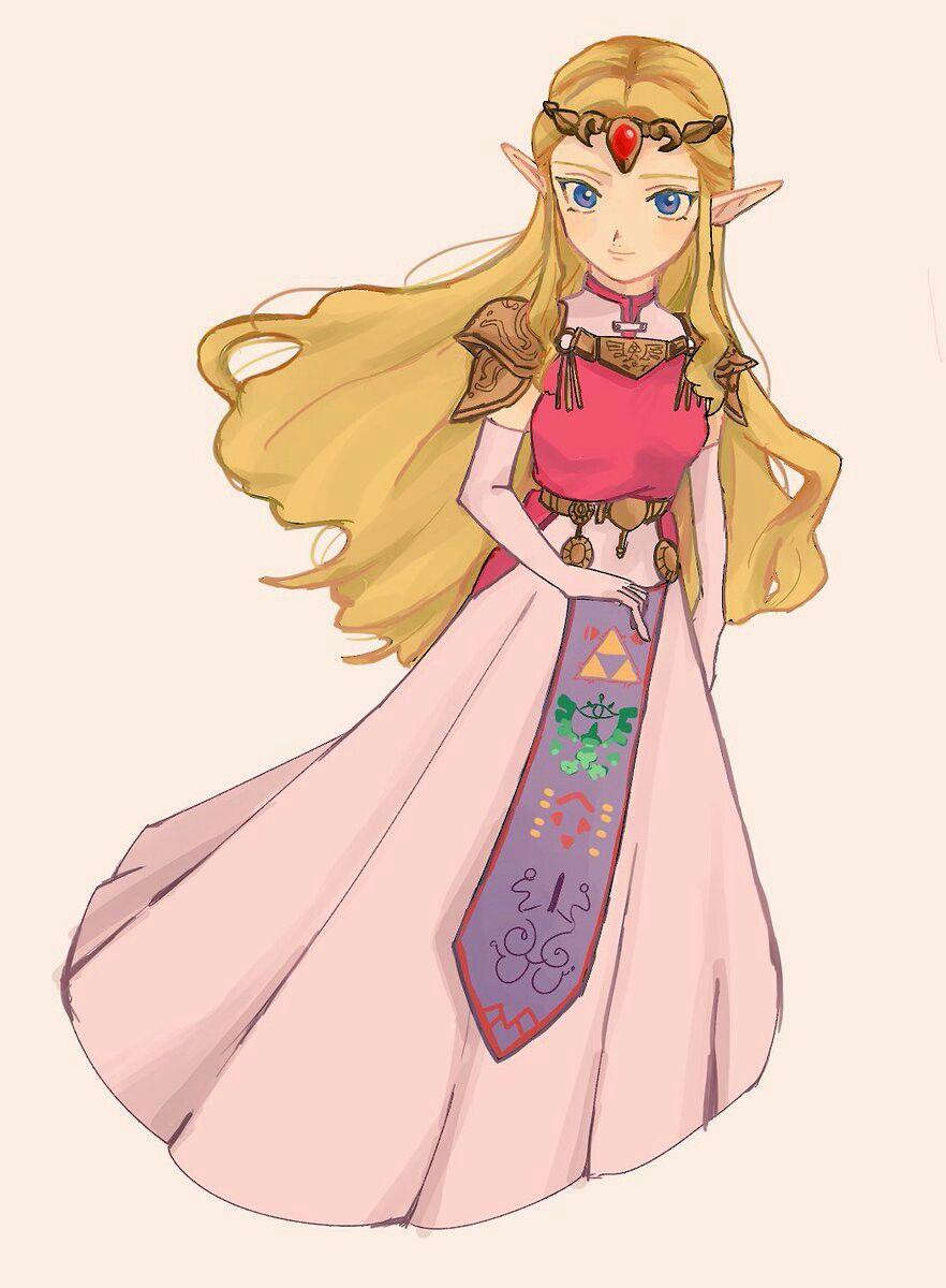 Legend Of Zelda Ocarina Of Time Art Princess Zelda