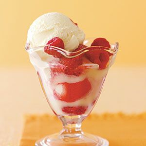 White-Chocolate Raspberry Sundaes Recipe