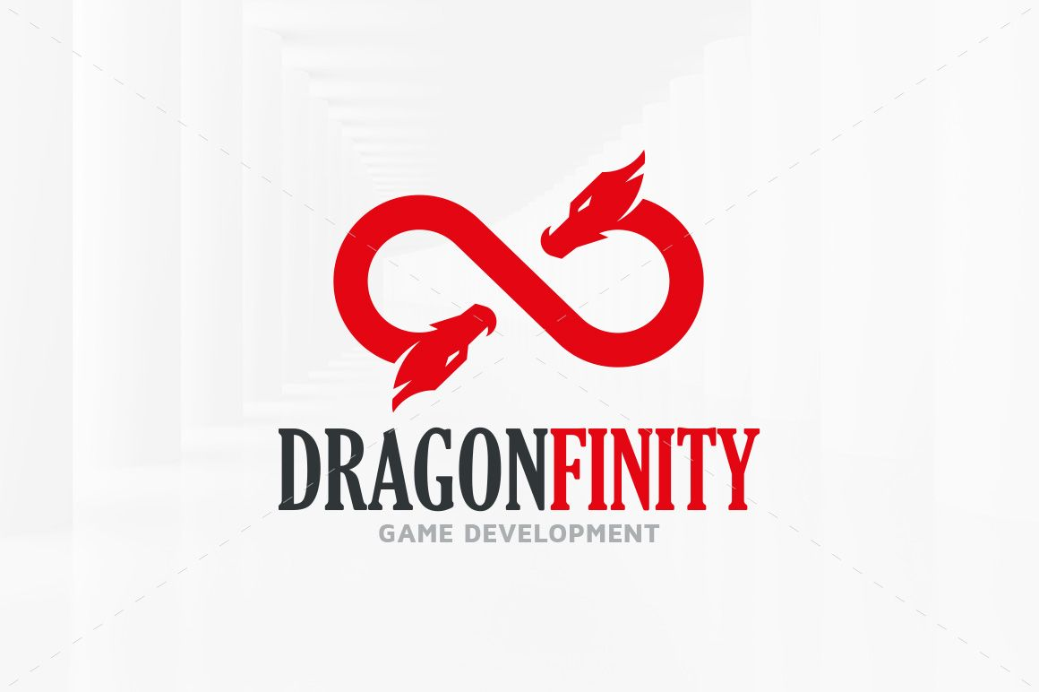 Dragon Infinity Logo Template By Liveatthebbq On Creativemarket