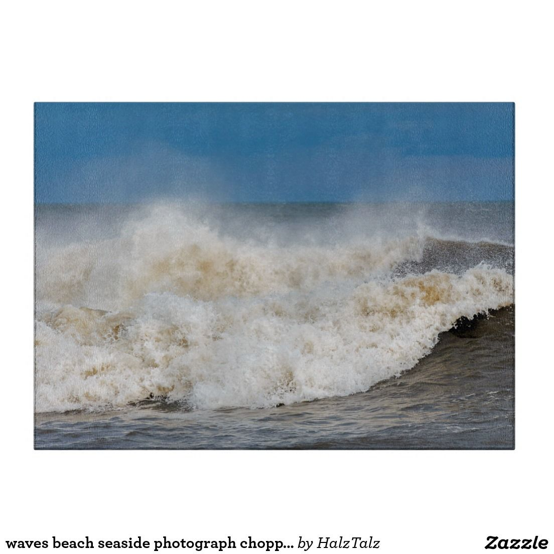 Waves Beach Seaside Photograph Chopping Board Cutting Boards