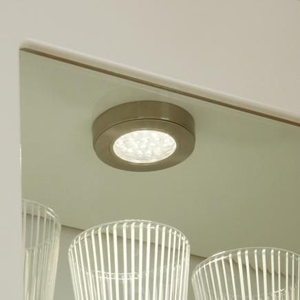 Led surface mounted circular downlighter kitchen lighting howdens joinery