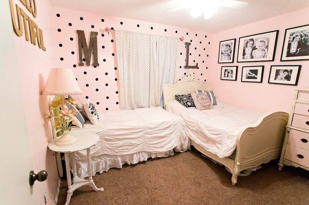 Shared girls room room bedrooms and shared rooms - Girls shared room ideas ...