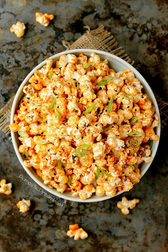 Sweet and Spicy Gochujang Butter Popcorn Recipe Savory