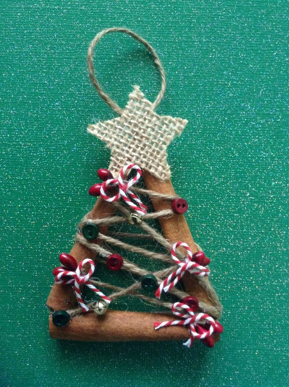 Christmas trees set of 3 made of Cinnamon sticks by CraftsbyBeba (With images)   Christmas ...