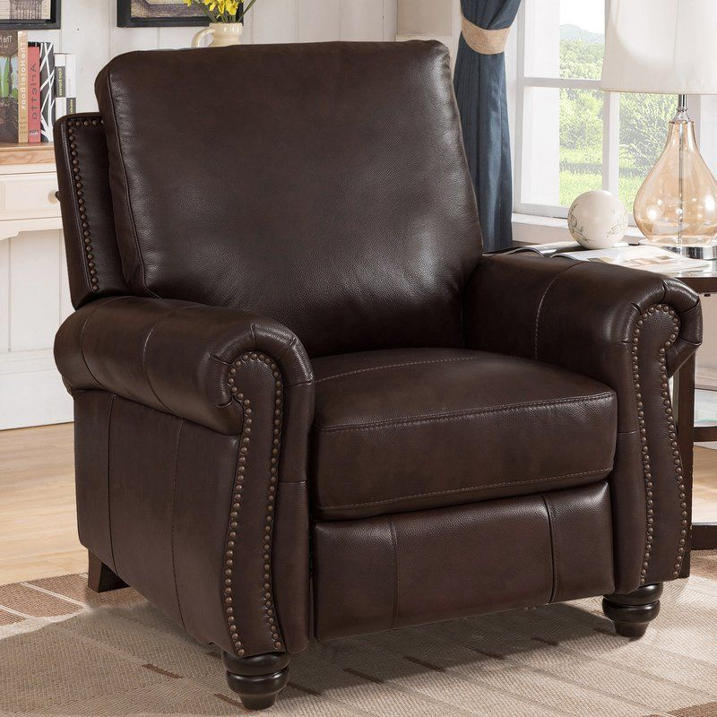 Discover a adriano leather manual recliner by darby home