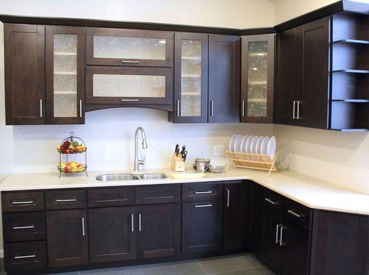 cucine-ad-angolo-moderne-mobili-neri-top-bianco | Cucine | Pinterest