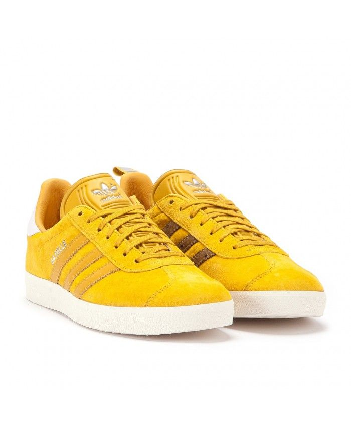 promo code a280e ca8e0 cheap Womens Adidas Gazelle Ostrich Pack Nomad Yellow Trainer