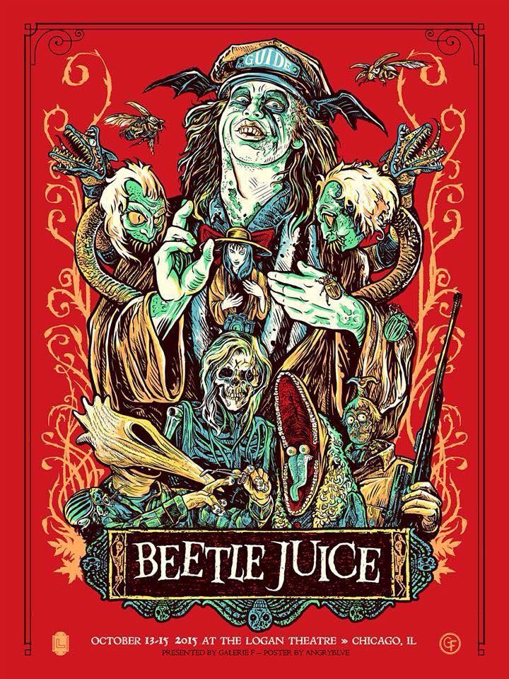 Beetlejuice (1988) fan poster art | Beetlejuice movie ...