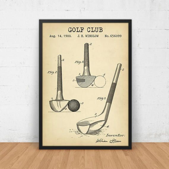 Golf patent print golf club blueprint art digital download golf golf patent print golf club blueprint art digital download golf illustration golf decor golf club wall decor vintage golf posters malvernweather