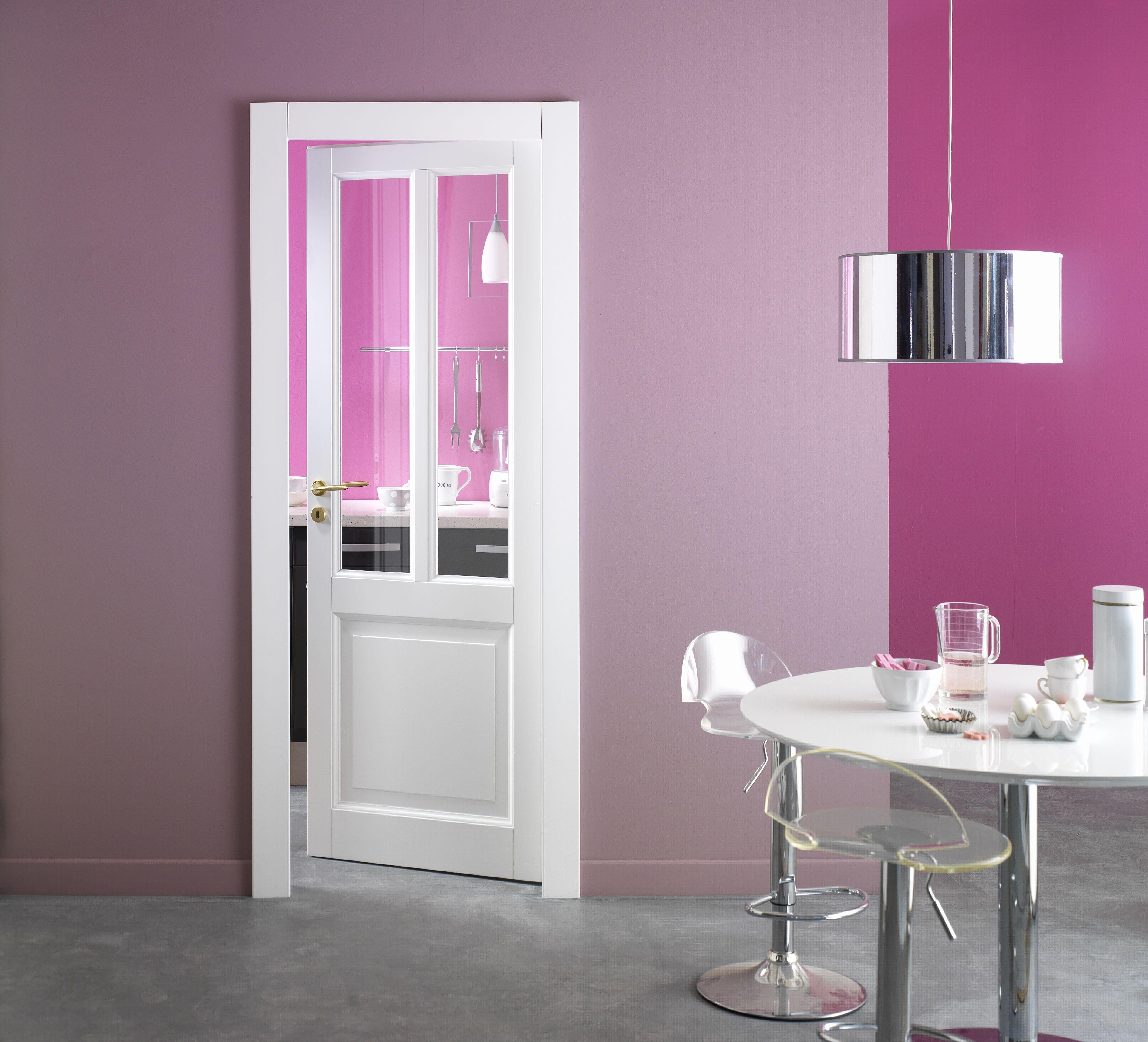 porte d 39 int rieur blanche vitr e mod le maryline portes. Black Bedroom Furniture Sets. Home Design Ideas