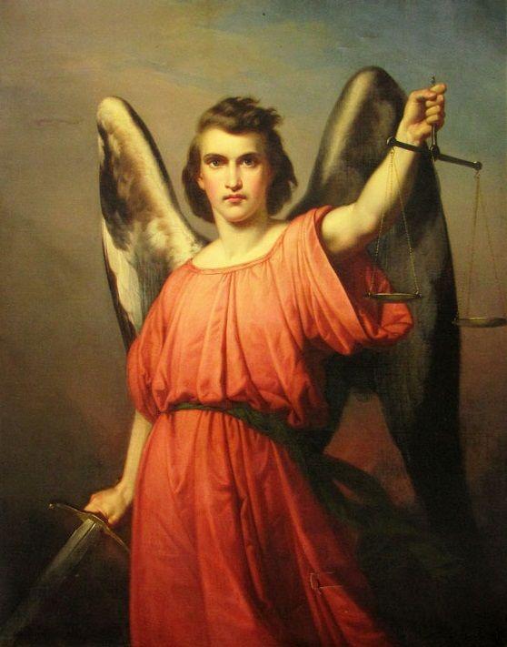 Paul Emil Jacobs 1802 1866 Arcángel San Miguel Arcanjo Arcanjo Miguel Anjos E Arcanjos