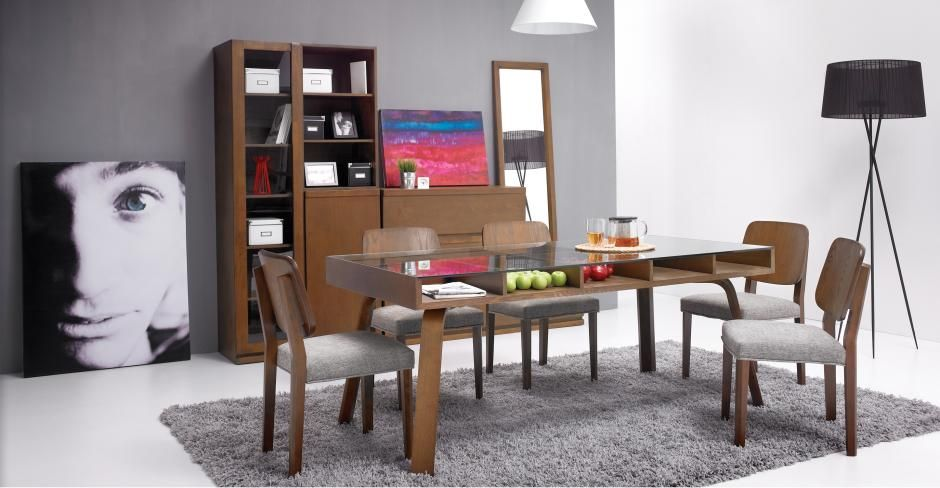 Lin Cocoa Glass Dining Table - Glass Tables - Bryght - Furniture, Home Decor, Dining, Living & Bedroom