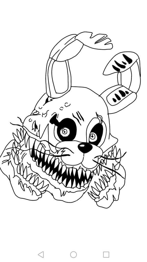 Five Nights At Freddy Coloring Pages Twisted Bonnie In 2020 Paw Patrol Coloring Pages Mermaid Coloring Pages Dinosaur Coloring Pages