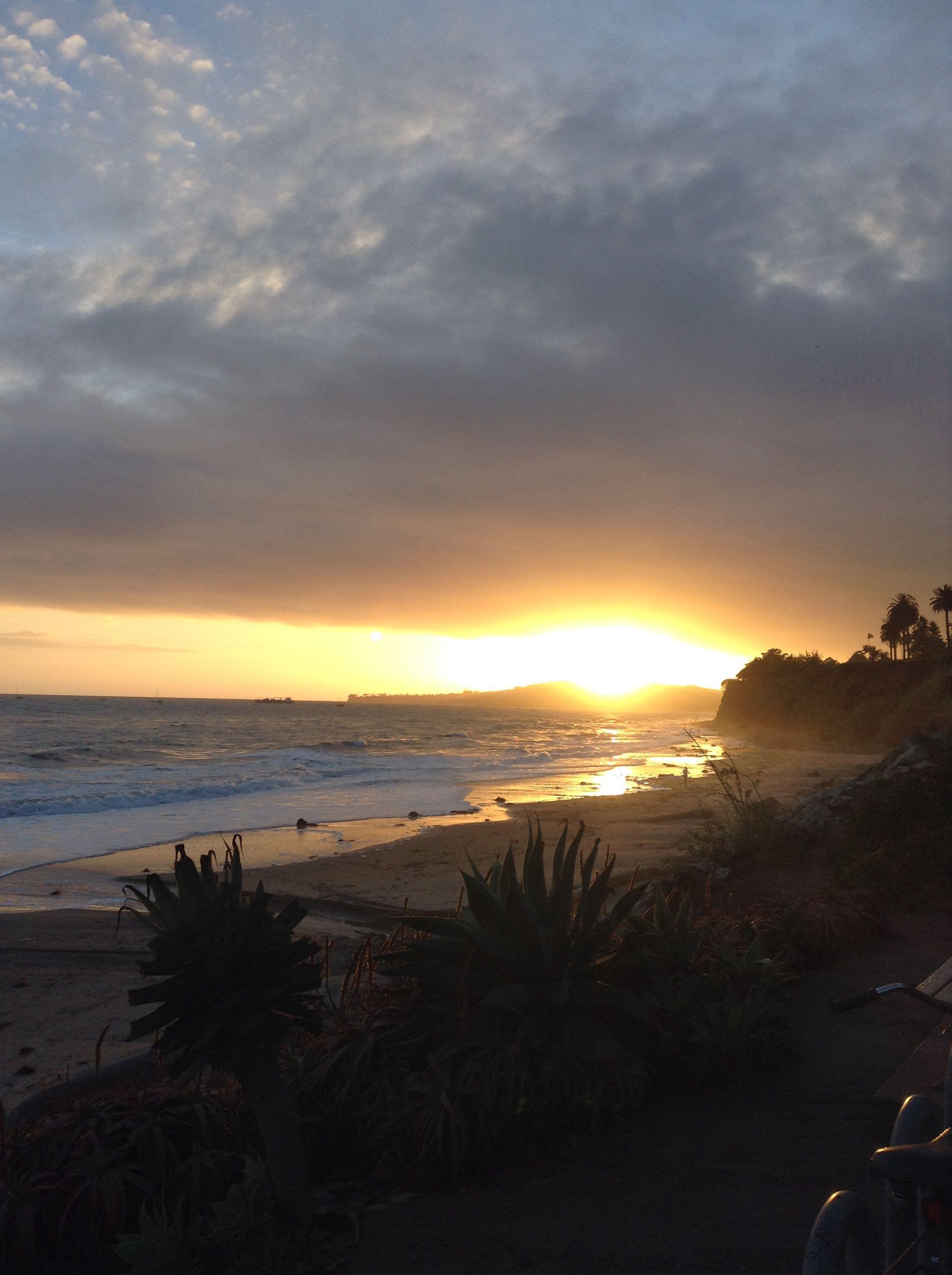 Erfly Beach After A Day Of Rain Four Seasons Santa Barbara