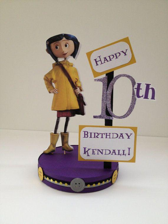 Coraline Custom Birthday Party Centerpiece | *GASP!* | Birthday