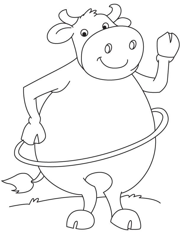 Hula Hoop Buffalo Coloring Page With Images Coloring Pages