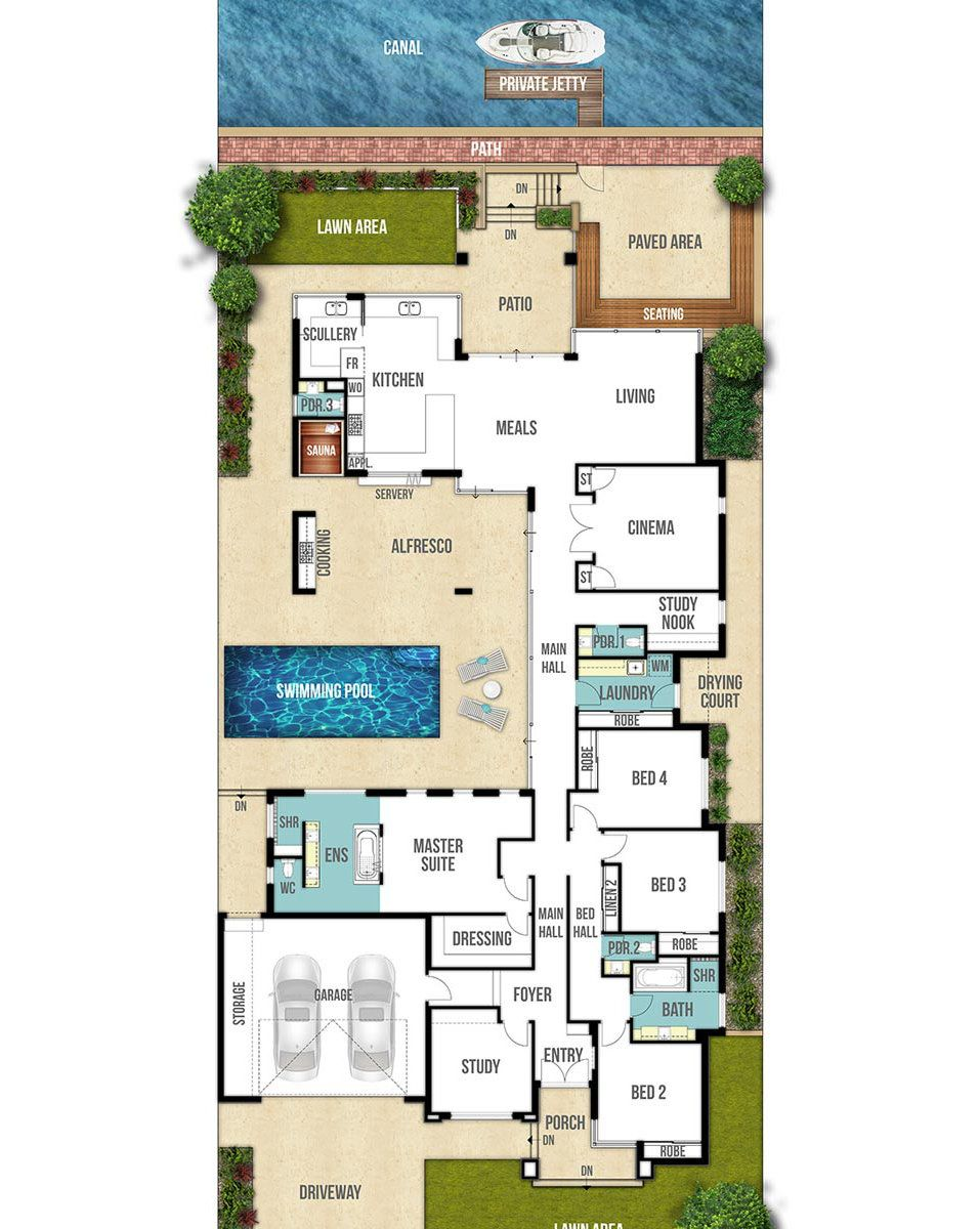 Canal House Floor Plan The Centro By Boyd Design Perth House Layout Plans House Layouts House Plans