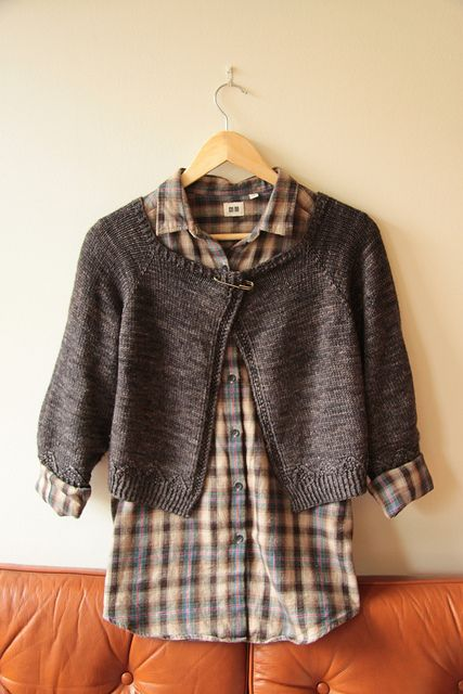 netherton cardi knitting pattern from pom pom quarterly issue 1; knit in uncommon thread bfl dk from