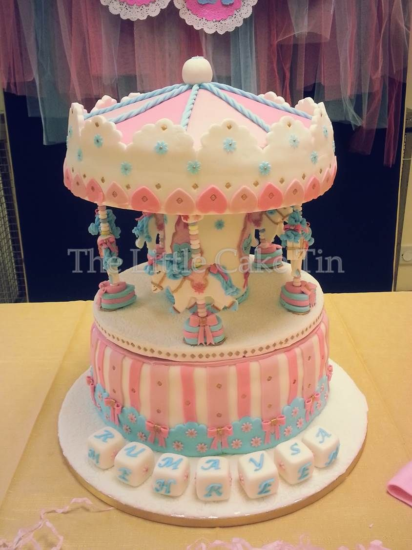 The Little Cake Tin 12 Carousel Cake For A Girls 1st Birthday