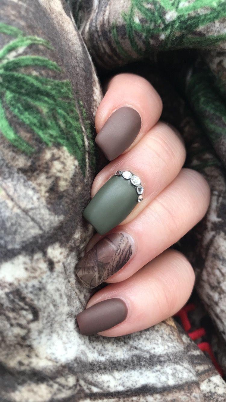 Realtree Camonails Huntingnails Fallnails Acrylicnails Matte Hunting Nails Camo Nails Acrylic Nails