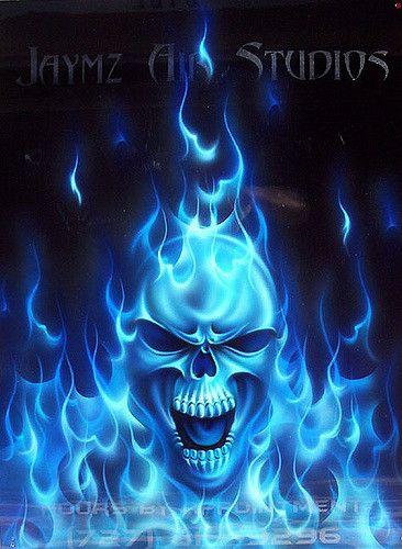 Skull Bluefire Skull Skull Pictures Skull Wallpaper Blue Skulls