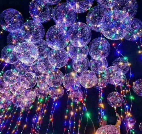 led light up transparent balloons for wedding birthday party