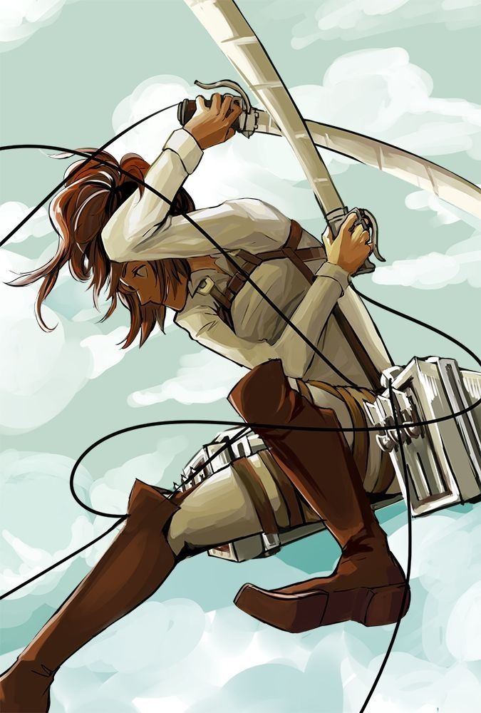 Shingeki No Kyojin - I love Hanji... She is so eccentric and it shows in her fighting style.