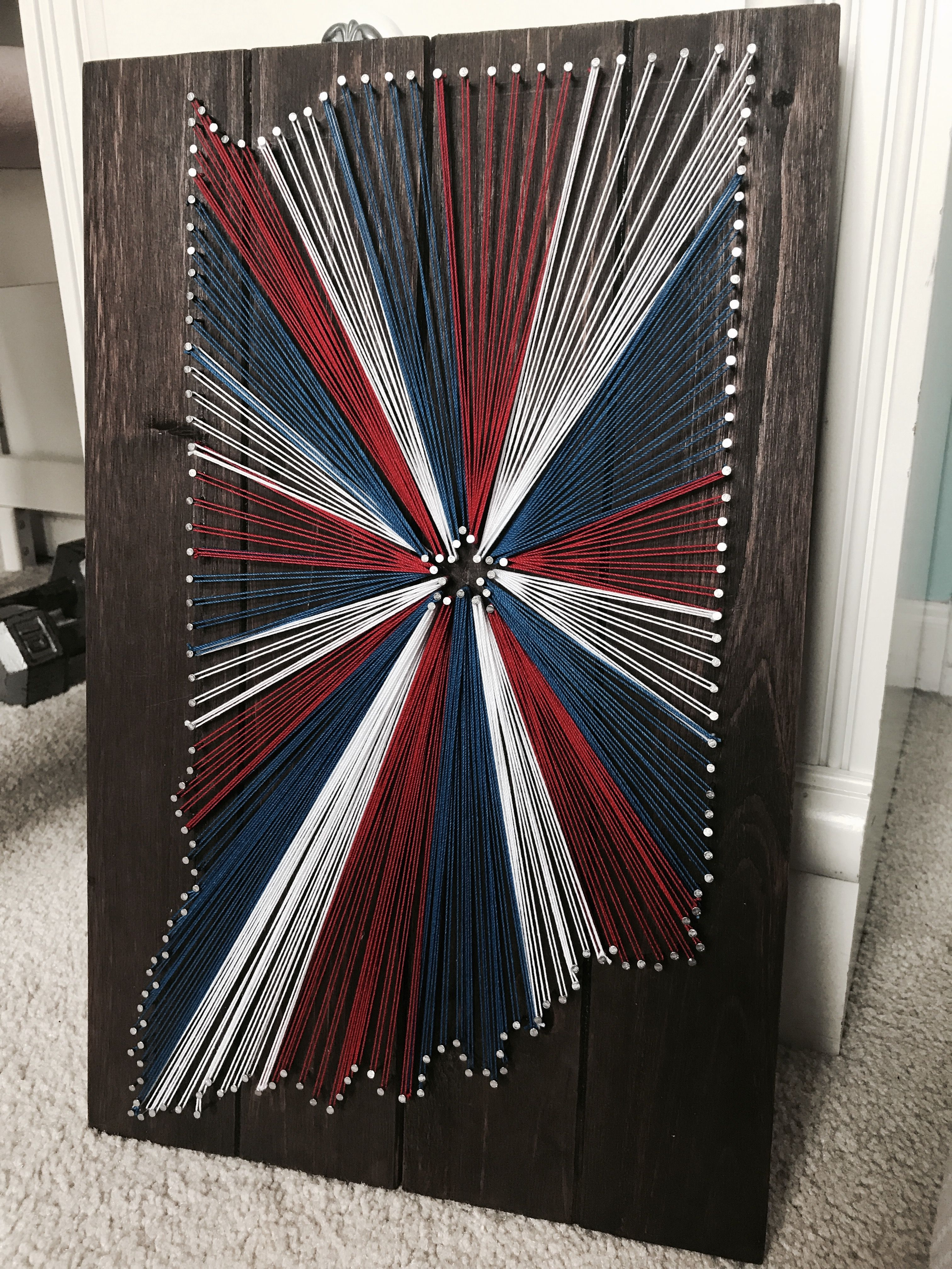 String art state indiana red white and blue rustic board string art state indiana red white and blue rustic board gumiabroncs Gallery