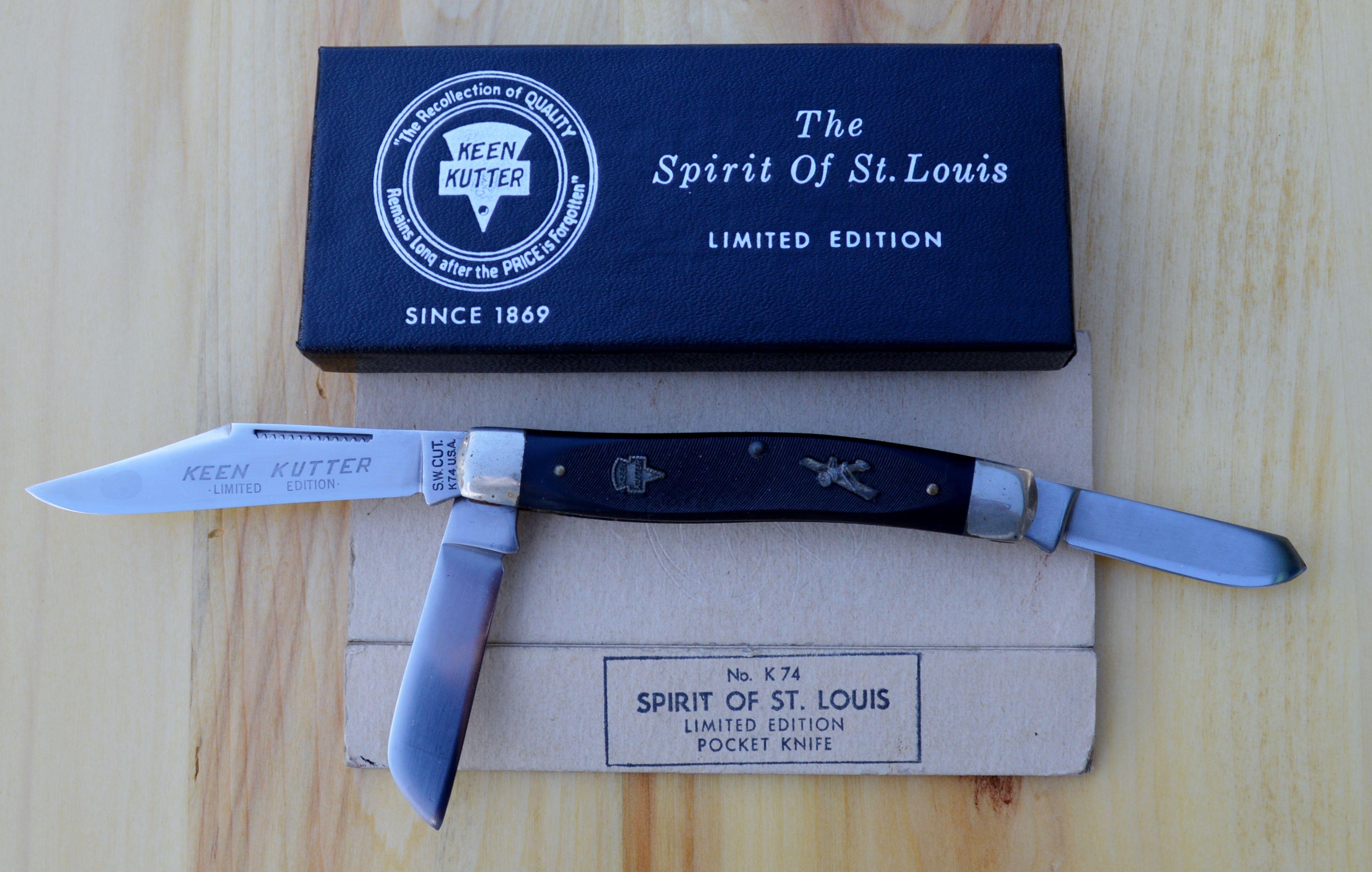 "Limited Edition Schrade Walden Keen Kutter Knife ""The Spirit St"