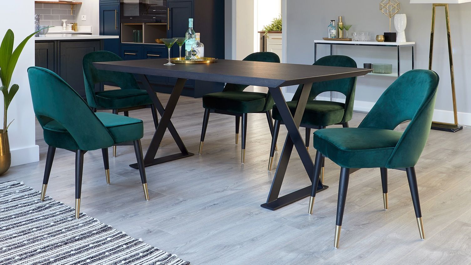 Nala Large Dark Oak Dining Table And Chairs 6 Seater Dining Table Dining Chairs Oak Dining Table