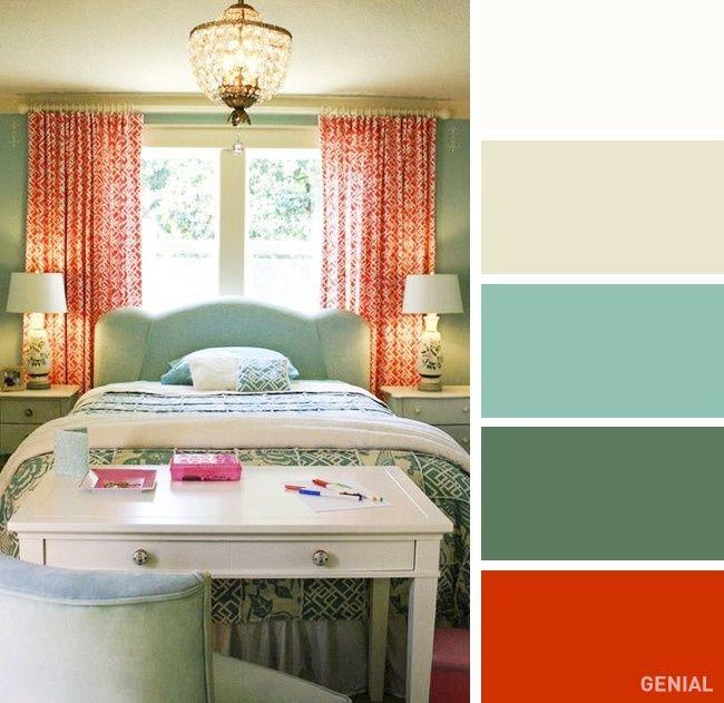 20 Perfectas combinaciones de colores para tu recmara Pinterest